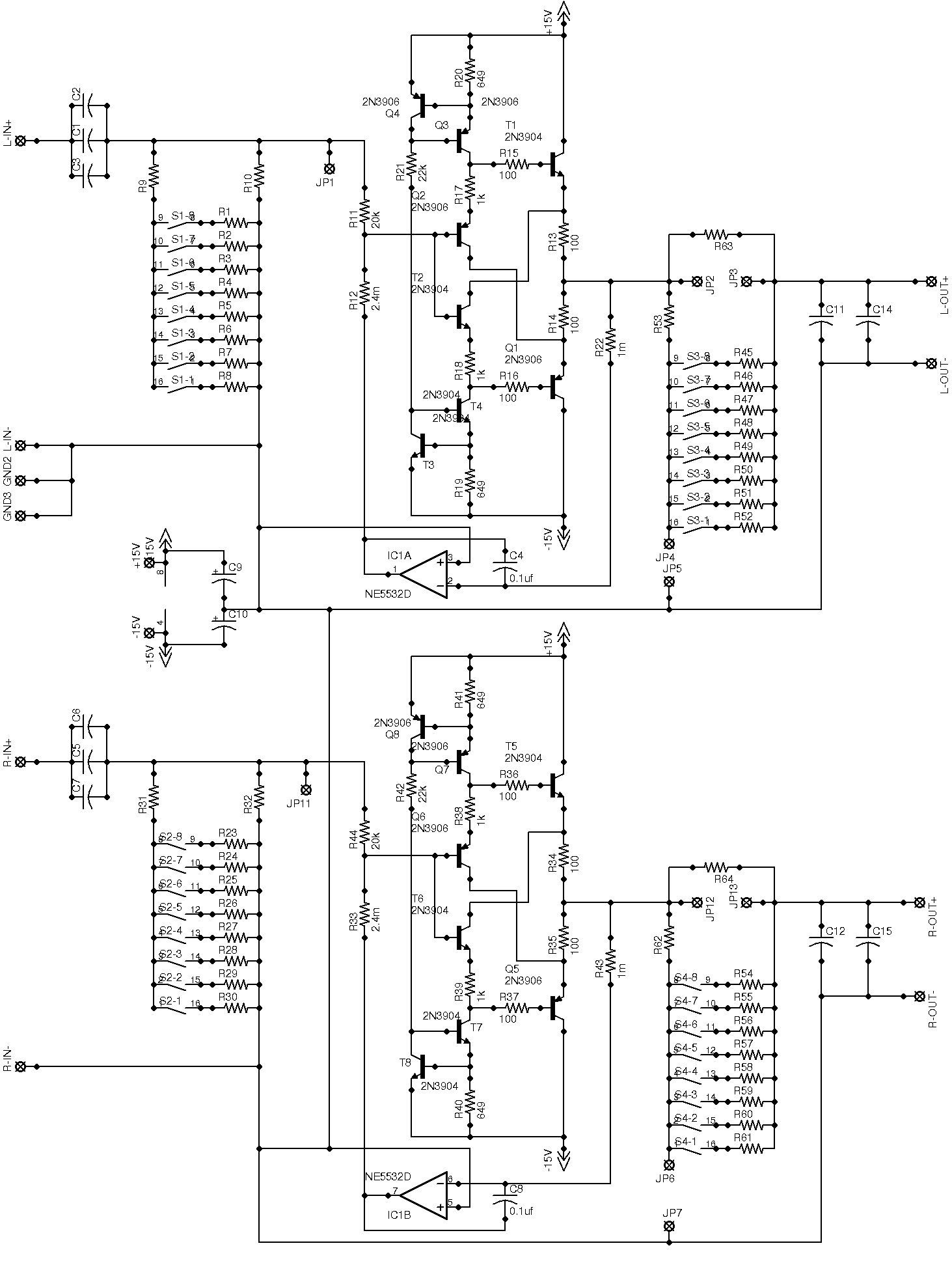 Line level crossover crossover circuit board wbuffer high level overall schematic pooptronica