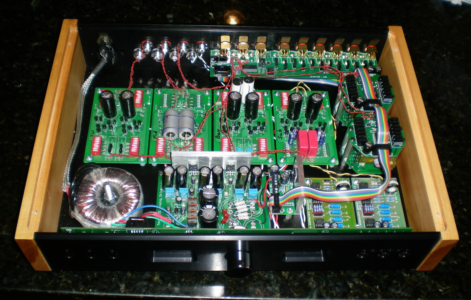 Line Level Crossover Subwoofer Preamp Filter Circuit Diagram